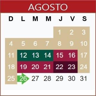 Agosto Calendario SEP 2019-2020
