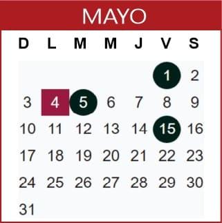 Mayo Calendario SEP 2019-2020