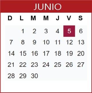 Junio Calendario SEP 2019-2020