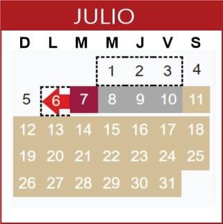 Julio Calendario SEP 2019-2020