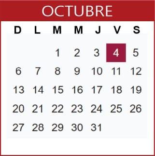 Octubre Calendario SEP 2019-2020
