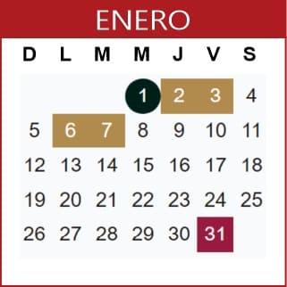 Enero Calendario SEP 2019-2020