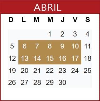 Abril Calendario SEP 2019-2020
